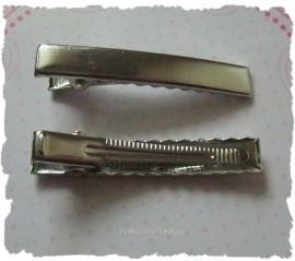 (HA-all-002) 2 Alligator clips met tandjes - 47mm - super kwaliteit