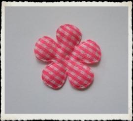 (BLr-009) geruite bloem - fuchsia - 35mm