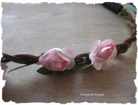 (IB-003) Ibiza haarbandje - licht roze