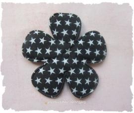 (BLd-020d) Bloem - sterren - zwart - 47mm