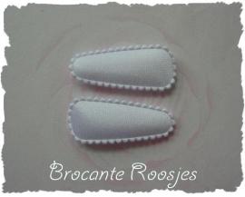 (HOBe-001) 2 hoesjes - baby - satijn - wit