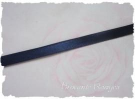 (SA-011) Satijn lint - donkerblauw - 7mm