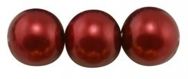 (Gp-016) Glasparel - diep rood - 12mm