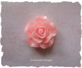 (FLr-015d) Flatback roosje - zalm roze - 30mm