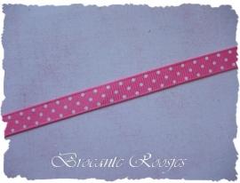 (STG-001a) Stippenband - grosgrain - roze - 10mm