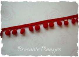 (BO-005) Bolletjesband - rood