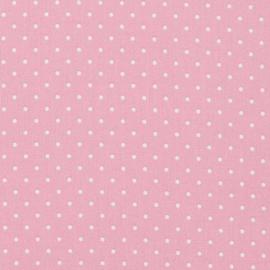 Stipjes stof - roze/wit - 55cm x 1.50m br.