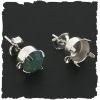 (Oo-003) 2 Oorstekertjes voor Swarovski ss39 puntsteen - met oogje - SPL zilver