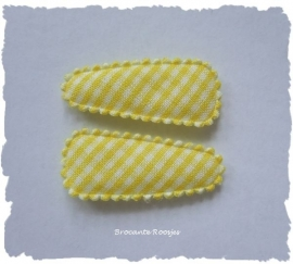 (HOBr-006) 2 hoesjes - baby - ruitje - geel