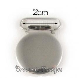 (SPe-003) Speenkoord clip -  metaal - rond - 2cm