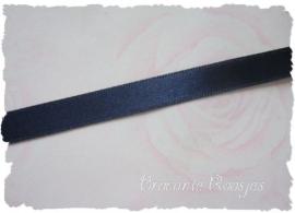 (SA-029) Satijn lint - donker blauw - 10mm