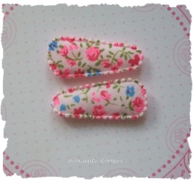 (HOBd-031) 2 hoesjes - baby - bloemetjes - roze