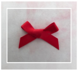 (Sz-013) Strikje - zelfklevend - rood - 25mm