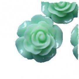 (FLr-016) Flatback - roosje - mint - 20mm*