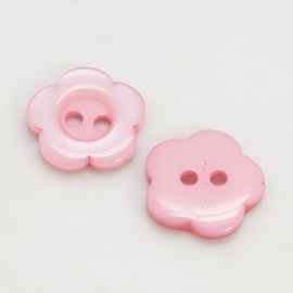 (Kn-014) Knoopje - bloemetje - licht roze - 15mm