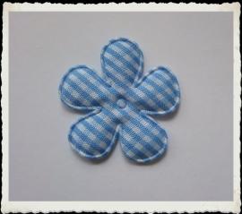 (BLr-011) geruite bloem - lichtblauw - 35mm