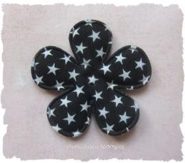 (BLd-015) Bloem - sterren - zwart - 35mm
