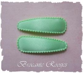 (HOe-016) 2 hoesjes - mint groen - satijn - 55mm