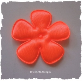 (BLE-073a) Bloem - satijn - neon oranje - 47mm
