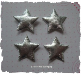(Ster-017) 4 sterretjes - zilver - 2cm