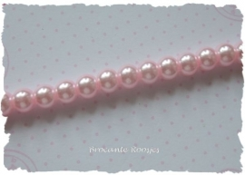 (Gp-002) Glasparel - licht roze - 6mm