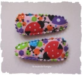 (HOBd-038) 2 hoesjes - baby - lieveheersbeestjes - 35mm