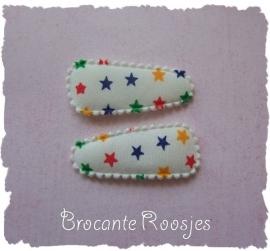 (HOBd-029) 2 hoesjes - baby - sterretjes- multicolor