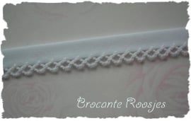 (BI-001) Biaisband met kantje - wit