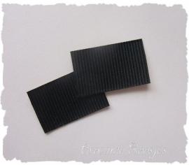(D-008) 2 zelfklevende strips t.b.v. diadeem - zwart