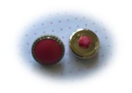 (Kn-009) Knoopje - koraal/goud - 13mm