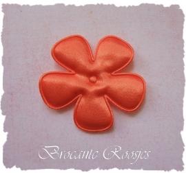 (BLE-073) Bloem - satijn - oranje - 47mm