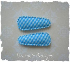 (HOBr-003) 2 hoesjes - baby - ruitje - aqua