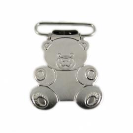 (SPe-013) Speenkoord / bretel clip - beertje - 2,5cm