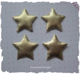 (Ster-018) 4 sterretjes - goud - 2cm