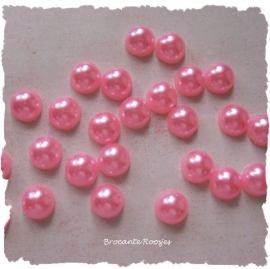 (FLp-004) flatback - parel - roze - 8mm