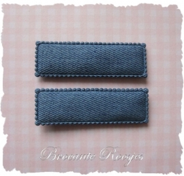 (HO-RE-005) 2 hoesjes - recht - denim blue