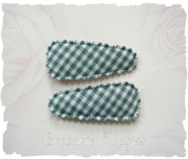 (HOBr-010) 2 hoesjes - baby - ruitje - grijs