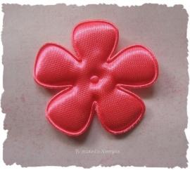 (BLE-062a) Bloem - satijn - neon roze - 47mm