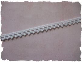 (K-001) Romantisch gehaakt kant - katoen - wit - 7mm