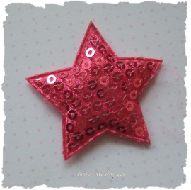 (Ster-056) Ster - pailletjes - fuchsia - 4cm
