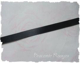 (SA-036) Satijn lint - zwart - 10mm