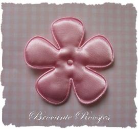 (BLE-081) Bloem - satijn - licht roze - 65mm