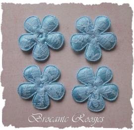 (BL-ka-007) 4 bloemen met kant - l.blauw - 35mm