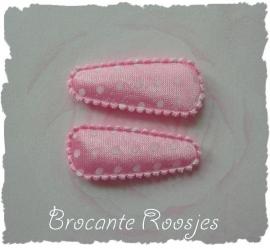 (HOBs-002) 2 hoesjes - baby - stipje - satijn - licht roze