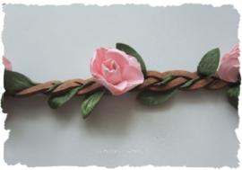 (IB-004) Ibiza haarbandje - perzik roze