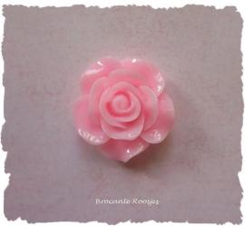 (FLr-014) Flatback - roosje - roze - 20mm