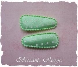 (HOBs-008) 2 hoesjes - baby - stipje - satijn - mint groen