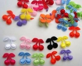 (F-002) 10 mini kersjes - satijn - kleurenmix - 10mm