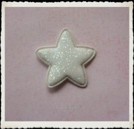 (Ster-030) Ster - glitter - ivoor - 25mm