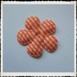 (BLr-015) geruite bloem - oranje - 35mm